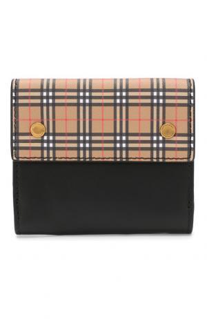 Кожаный кошелек с отделениями для кредитных карт Burberry. Цвет: светло-коричневый
