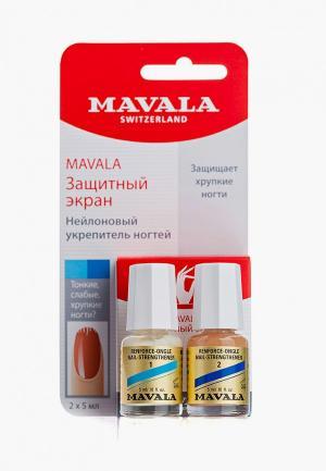 Средство для укрепления ногтей Mavala двухфазное, на блистере, Защитный экран/Nail Shield, 2х5 мл. Цвет: прозрачный