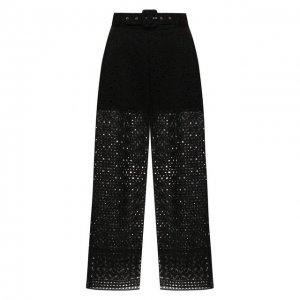 Хлопковые брюки Charo Ruiz Ibiza. Цвет: чёрный