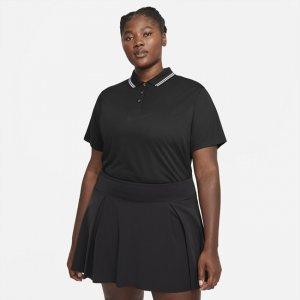 Женская рубашка-поло для гольфа Dri-FIT Victory (большие размеры) - Черный Nike