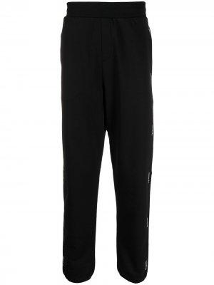 Спортивные брюки с логотипом Moncler. Цвет: черный