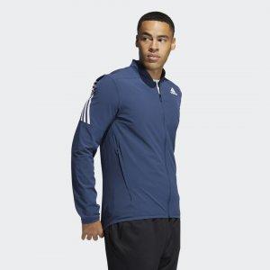 Куртка для фитнеса 3-Stripes Performance adidas. Цвет: синий