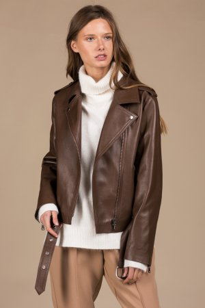 Куртка-косуха Черешня. Цвет: коричневая