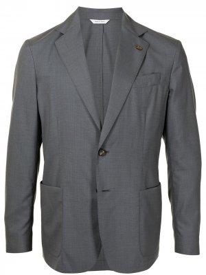 Однобортный пиджак Colombo. Цвет: серый