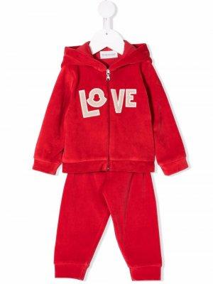 Спортивный костюм с надписью Love Moncler Enfant. Цвет: красный