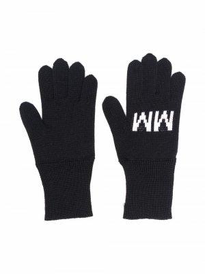 Перчатки вязки интарсия MM6 KIDS. Цвет: черный