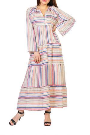 Платье Forus. Цвет: мультиколор