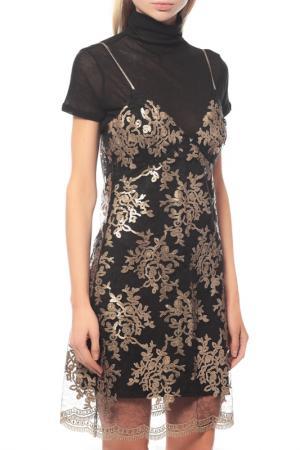 Платье Guess. Цвет: w7ul0 f243 black gold combo