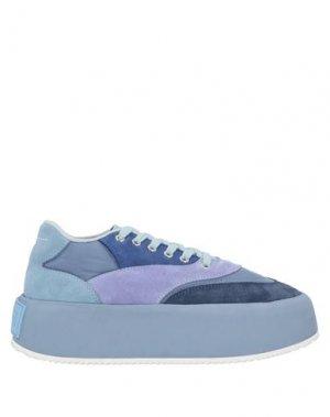 Низкие кеды и кроссовки MM6 MAISON MARGIELA. Цвет: пастельно-синий