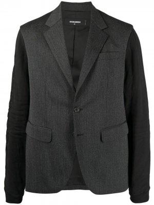 Пиджак с рукавами из джерси Dsquared2. Цвет: серый
