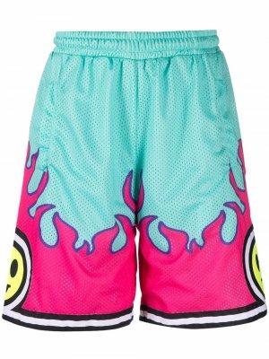 Баскетбольные шорты с принтом BARROW. Цвет: зеленый
