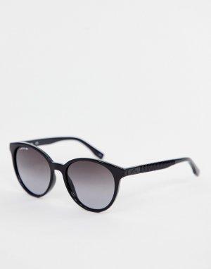 Круглые солнцезащитные очки L887S-Черный Lacoste