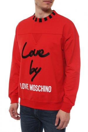 Толстовка Love Moschino. Цвет: красный