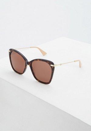 Очки солнцезащитные Gucci GG0510S003. Цвет: коричневый