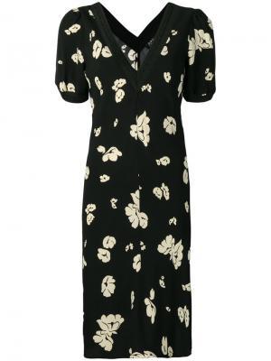 Платье с принтом A.P.C.. Цвет: черный