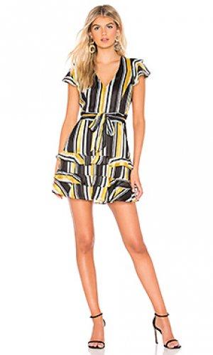 Мини платье elijah Parker. Цвет: черный