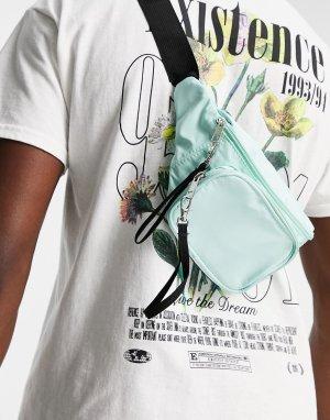 Голубая сумка-кошелек на пояс с принтом тай-дай -Голубой SVNX