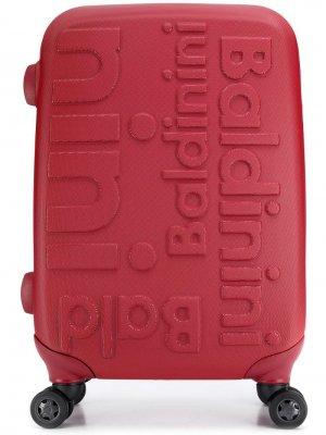 Чемодан с тисненым логотипом Baldinini. Цвет: красный