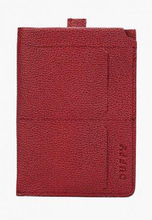 Обложка для паспорта Duffy. Цвет: красный