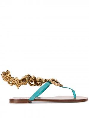 Сандалии Devotion Dolce & Gabbana. Цвет: синий