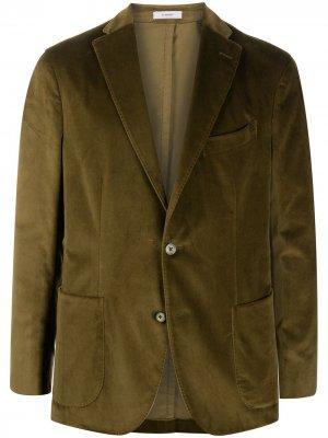 Пиджак на пуговицах с длинными рукавами Boglioli. Цвет: зеленый