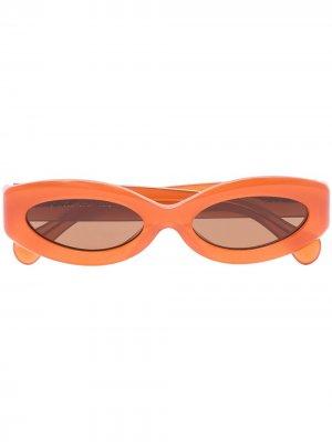 Солнцезащитные очки Crepuscolo в оправе кошачий глаз Port Tanger. Цвет: коричневый