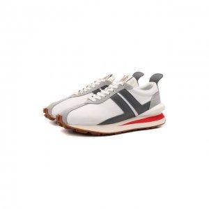 Комбинированные кроссовки Lanvin. Цвет: белый