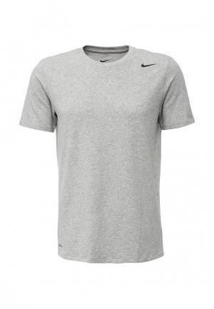 Футболка спортивная Nike Mens Dry Training T-Shirt. Цвет: серый