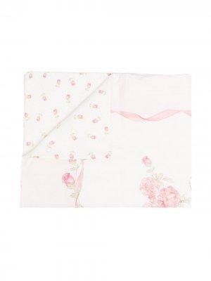 Двухслойное одеяло с принтом Monnalisa. Цвет: белый