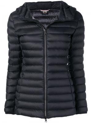 Дутая куртка с капюшоном Colmar. Цвет: черный