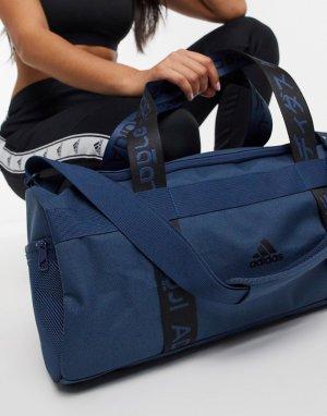 Синяя спортивная сумка-дафл adidas-Синий adidas performance