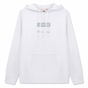 T3 Relaxd Graphic Hoodie Boxtab Levis. Цвет: белый