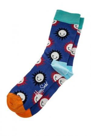 Носки HAPPY SOCKS. Цвет: горошек, мультицвет, синий