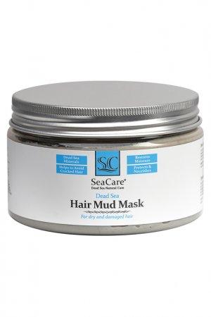 Грязевая маска для волос с минералами Мертвого Моря и растительными экстрактами, 250 гр, SeaCare. Цвет: голубой