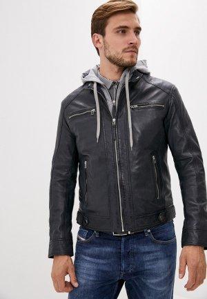 Куртка кожаная Serge Pariente. Цвет: синий