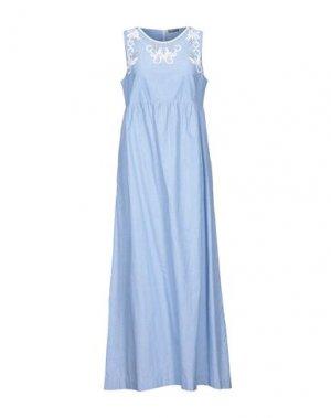 Длинное платье MALÌPARMI. Цвет: небесно-голубой