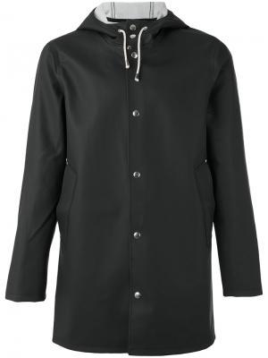 Куртка с капюшоном Stockholm Stutterheim. Цвет: черный