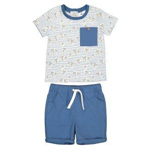 Комплект из футболки и шорт LaRedoute. Цвет: синий
