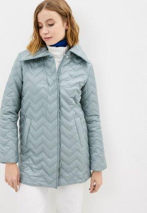 Куртка утепленная Снежная Королева. Цвет: голубой