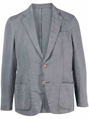 Однобортный пиджак узкого кроя Altea. Цвет: серый