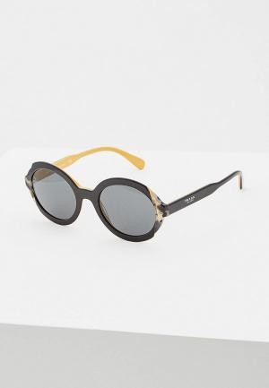 Очки солнцезащитные Prada PR 17US CCO1A1. Цвет: черный