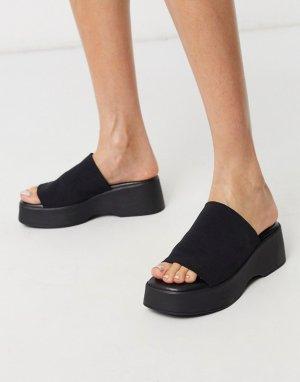Черные сандалии на платформе -Черный Steve Madden