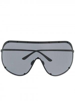 Солнцезащитные очки-авиаторы с затемненными линзами Rick Owens. Цвет: черный