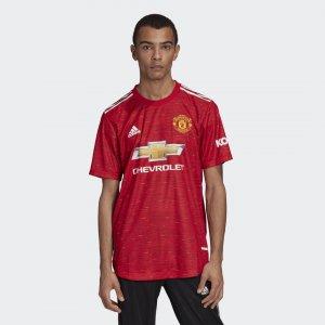 Домашняя игровая футболка Манчестер Юнайтед 20/21 Performance adidas. Цвет: красный