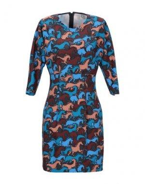 Короткое платье ATTIC AND BARN. Цвет: лазурный