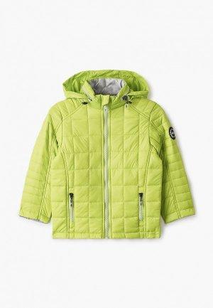 Куртка утепленная Alessandro Borelli Milano. Цвет: зеленый