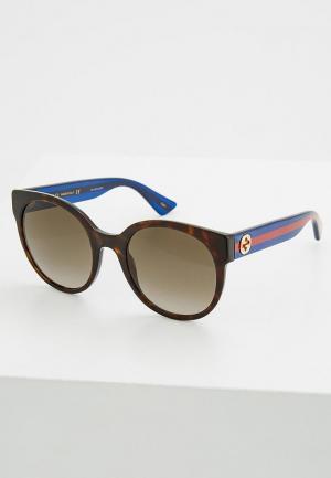 Очки солнцезащитные Gucci GG0035S004. Цвет: коричневый
