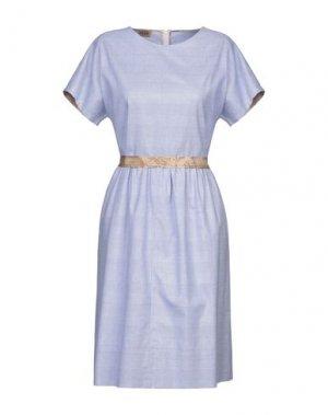 Платье до колена ALVIERO MARTINI 1a CLASSE. Цвет: лазурный