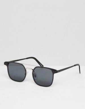 Солнцезащитные очки в квадратной оправе Spitfire. Цвет: серебряный