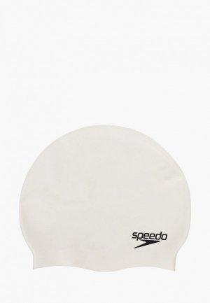 Шапочка для плавания Speedo FLAT SILICONE CAP. Цвет: белый